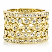 Zola's Set of 5 Stackable Rings - Goldtone