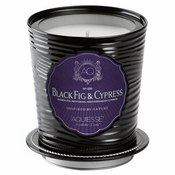 Black Fig Cypress Large Tin Candle by Aquiesse Portfolio
