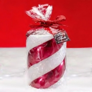 Candy Cane 3x4 Pillar Candle by Deco Glow