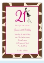 21st Birthday Soiree Invitation