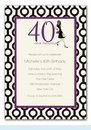 40 and Fabulous Invitation