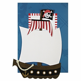 Ahoy There Pirate Invitations - click to enlarge