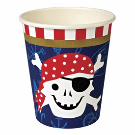 Ahoy There Pirate Party Cups - click to enlarge