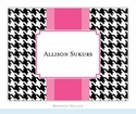 Alex Houndstooth Black Folded Notes (set/25)