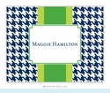 Alex Houndstooth Navy Folded Notes (set/25)