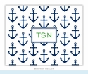 Anchors Navy Folded Notes (set/25)