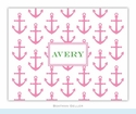 Anchors Pink Folded Notes (set/25)