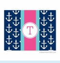 Anchors Ribbon in Navy Folded Notes (set/25)