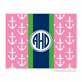 Anchors Ribbon in Pink Folded Notes (set/25) - click to enlarge
