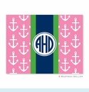 Anchors Ribbon in Pink Folded Notes (set/25)