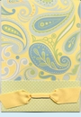 Anna Lulu Blue Paisley Invitation