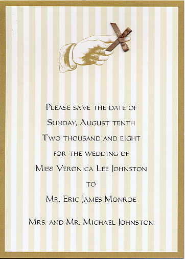 Antique Save the Date Announcement