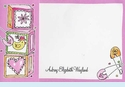 Baby Girl Photo Flip-Out Invitation