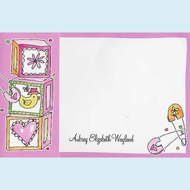 Baby Girl Photo Flip-Out Invitation - click to enlarge