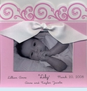 Baby Pink Scroll Square Invitation