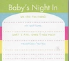 Baby's Night In Sticky Pad