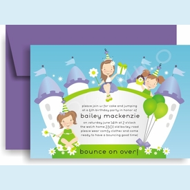 Bailey's Bounce Castle Birthday Invitation - click to enlarge
