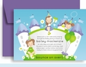 Bailey's Bounce Castle Birthday Invitation