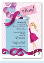 Balloon Gift Girl Invitation - Blonde