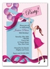 Balloon Gift Girl Invitation - Brunette