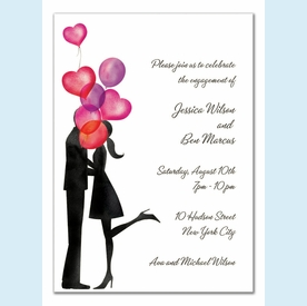 Balloon Love Invitation - click to enlarge