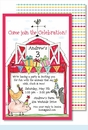 Barnyard Birthday Large Flat Invitation