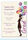 Beautiful Balloons Grad Invitation