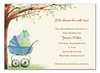 Beautiful Bassinet Boy Invitation