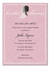 Beautiful Bride Silhouette Invitation