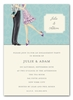 Beautiful Bride with Bow Invitation (Brunette)