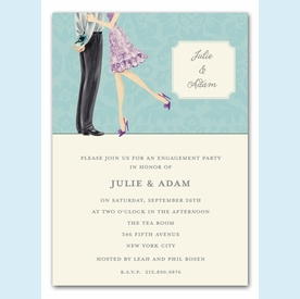 Beautiful Bride with Bow Invitation (Brunette)  - click to enlarge