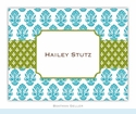 Beti Teal Folded Notes (set/25)
