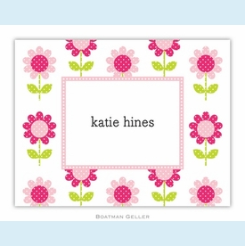 Big Daisy Pink Folded Notes (set/25) - click to enlarge