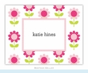 Big Daisy Pink Folded Notes (set/25)