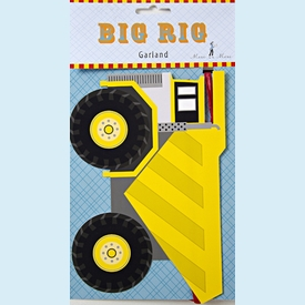 Big Rig Truck Garland - click to enlarge