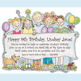 Birthday Banner Invitation - click to enlarge