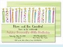 Birthday Candles for Her Large Flat Invitation