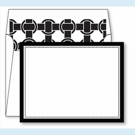 Black Border Small Flat Cards w/Coordinating Liner - click to enlarge