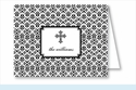 Black Cross Iron Scroll Pattern Note Cards