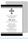 Black Cross Medium Flat Cards