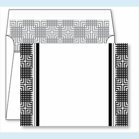 Black Mesh Border Small Flat Cards w/Coordinating Liner - click to enlarge