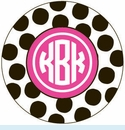 Black/Pink Spot Personalized Magnet