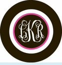 Black/Pink Stripe Personalized Magnet