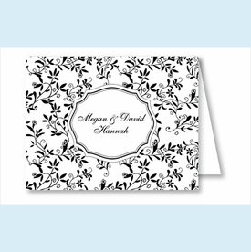 Black Sweet Pea Note Cards - click to enlarge
