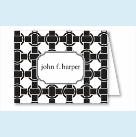 Black/White Basket Weave Note Cards - click to enlarge