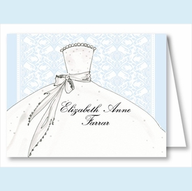 Blue Bride Note Cards - click to enlarge