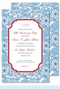 Blue China Large Flat Invitation