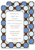 Blue/Chocolate Polka Dots Large Flat Invitation