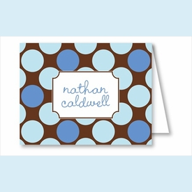 Blue/Chocolate Polka Dots Note Cards - click to enlarge