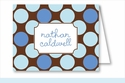Blue/Chocolate Polka Dots Note Cards